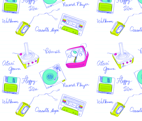 Outdated_technology fabric by maziza on Spoonflower - custom fabric