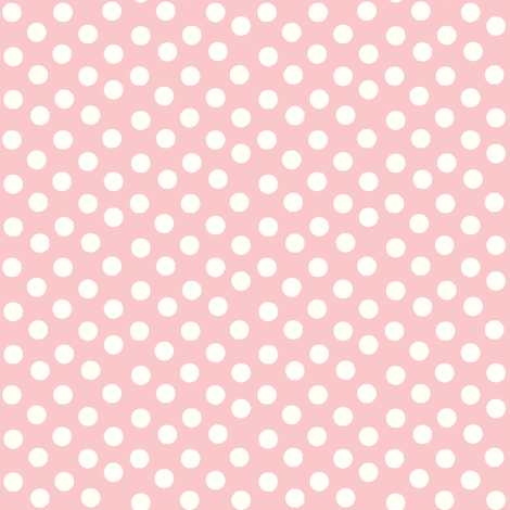 Pretty Polka Dots in Pink fabric by thepinkhome on Spoonflower - custom fabric