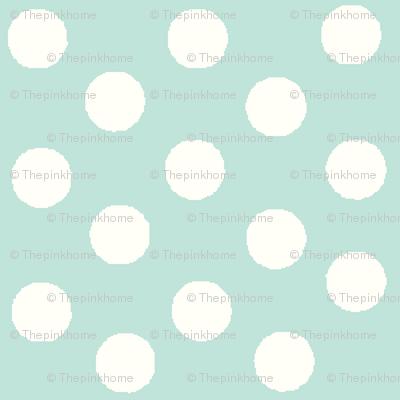 Pretty Polka Dots in Mint