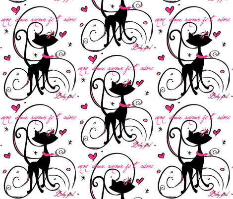 My sweet love #10 / baby girl fabric by paragonstudios on Spoonflower - custom fabric