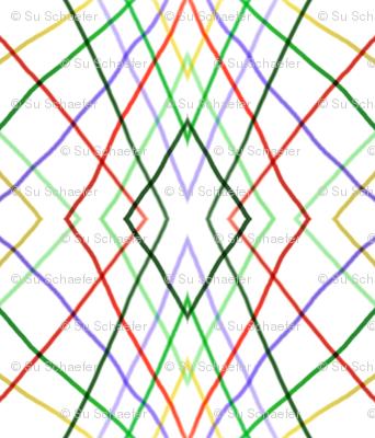 Geometric Vertical Wayward Stripes 1 by Su_G