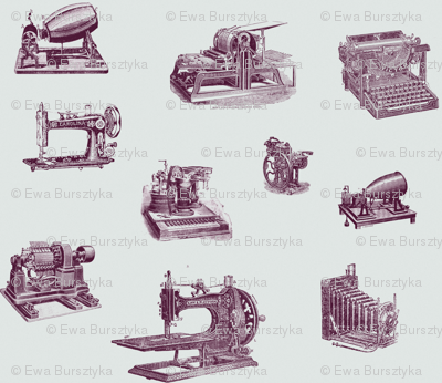vintage technology purple