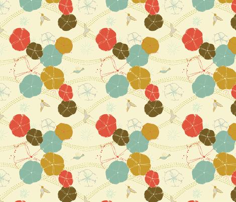Hummingbird Glory Tango fabric by femiford on Spoonflower - custom fabric