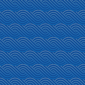 Wave swirls - dark blue