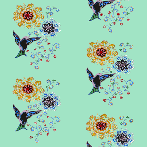hummingbird fabric by krs_expressions on Spoonflower - custom fabric