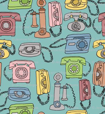 retro rotary phones