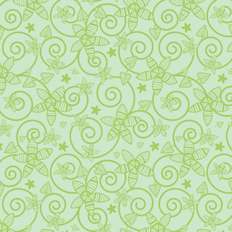 Leafy Garden fabric by robyriker on Spoonflower - custom fabric