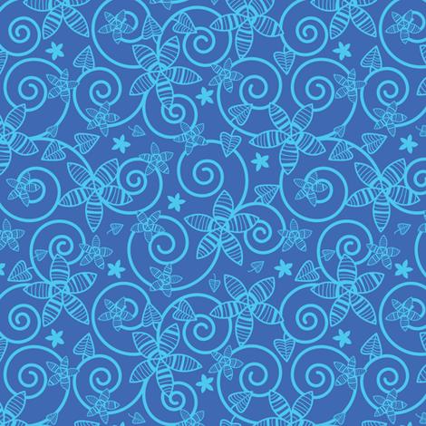 Midnight Garden fabric by robyriker on Spoonflower - custom fabric