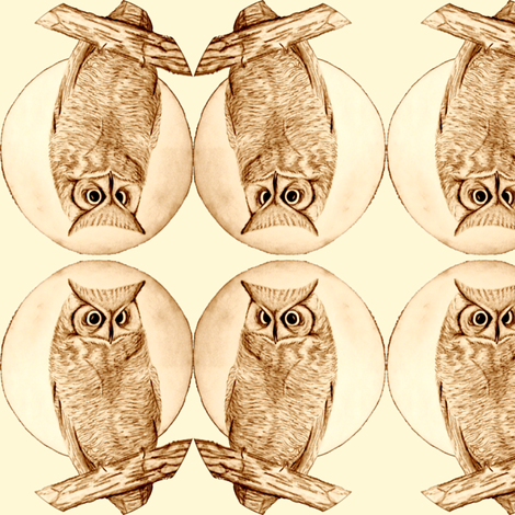 owl drawing fabric by krs_expressions on Spoonflower - custom fabric