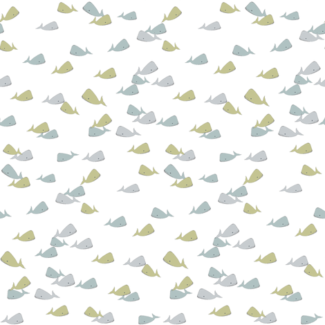 baby-ditsy-whale fabric by luluhoo on Spoonflower - custom fabric