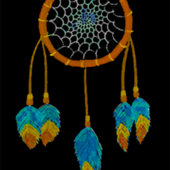 dream catcher black fabric by krs_expressions on Spoonflower - custom fabric