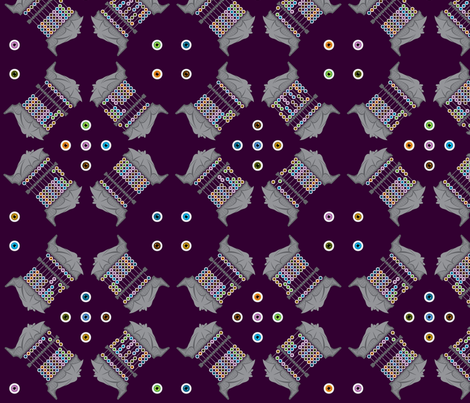 Batacus Abaceye (abacus, abaci) (Large Fabric Print) fabric by taracrowleythewyrd on Spoonflower - custom fabric