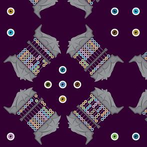 Batacus Abaceye (abacus, abaci) (Large Fabric Print)
