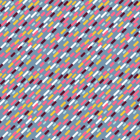 Diagonal brick Pattern | blue fabric by irrimiri on Spoonflower - custom fabric