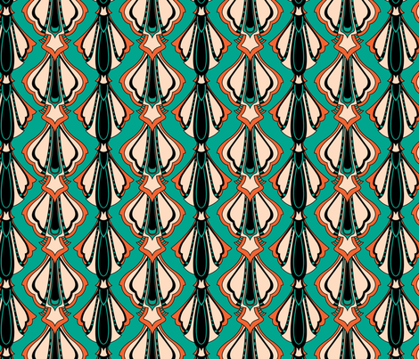 DECO SHELLS fabric by lisa_godfrey on Spoonflower - custom fabric