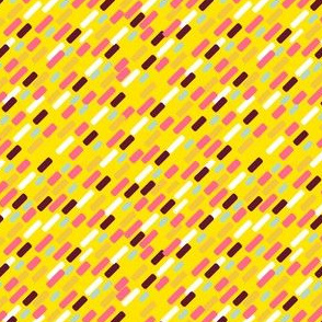 Diagonal brick Pattern | yellow