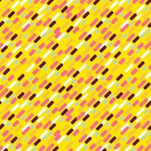 Diagonal brick Pattern | yellow