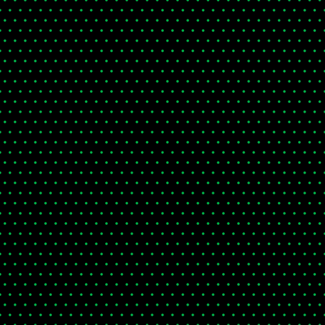 Polka green on black fabric by glanoramay on Spoonflower - custom fabric