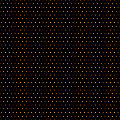 Polka orange on black fabric by glanoramay on Spoonflower - custom fabric