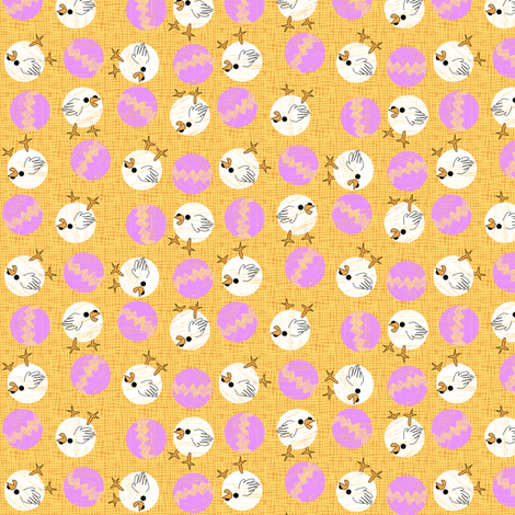 easter_chicks_and_eggs_dots fabric by glimmericks on Spoonflower - custom fabric