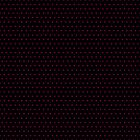 Polka pink on black fabric by glanoramay on Spoonflower - custom fabric