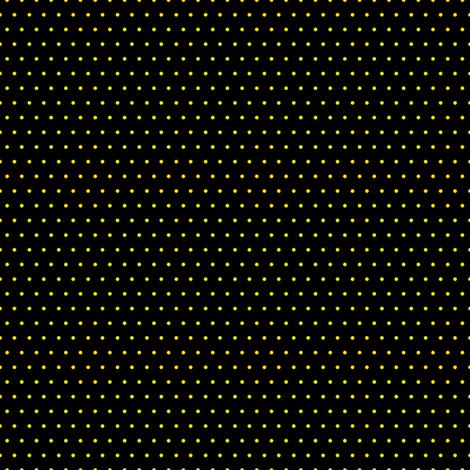Polka yellow on black fabric by glanoramay on Spoonflower - custom fabric