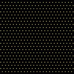 Polka yellow on black