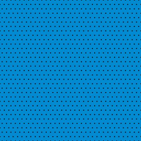 Polka black on blue fabric by glanoramay on Spoonflower - custom fabric