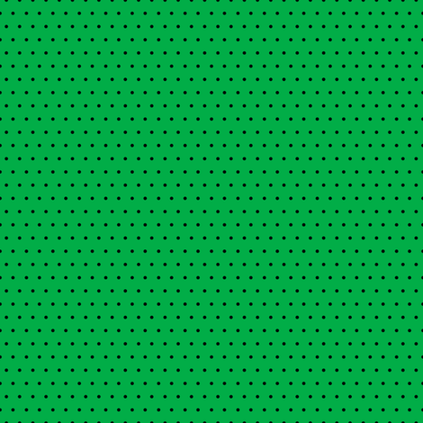 Polka black on green fabric by glanoramay on Spoonflower - custom fabric