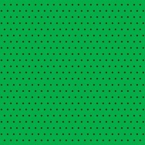 Polka black on green