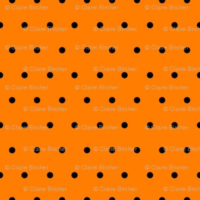 Polka black on orange
