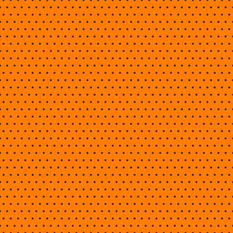 Polka black on orange fabric by glanoramay on Spoonflower - custom fabric