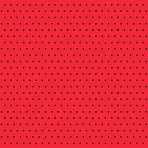 Polka black on red