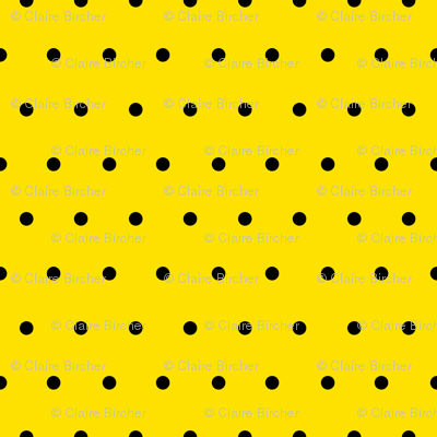 Polka black on yellow