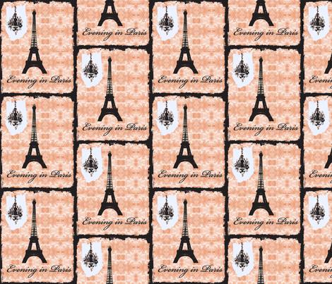 Evening in Paris on new black fabric by karenharveycox on Spoonflower - custom fabric
