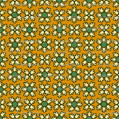 Green and Bittersweet Floral Coordinate