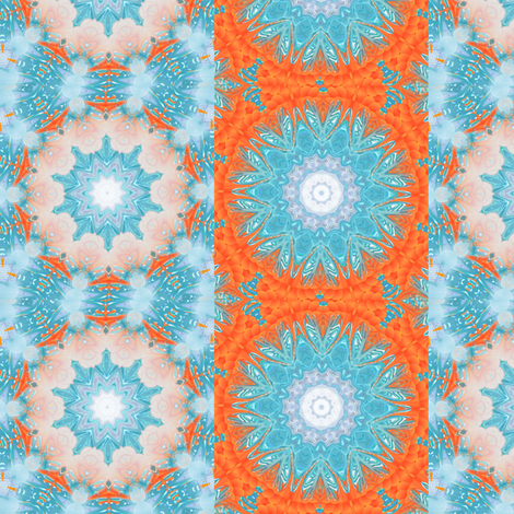 peach & blue  fabric by krs_expressions on Spoonflower - custom fabric