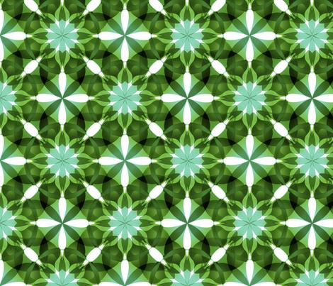Green Mandala Pattern fabric by miguel_issa on Spoonflower - custom fabric