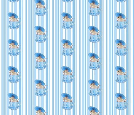 parasol mouse bleu fabric by golders on Spoonflower - custom fabric