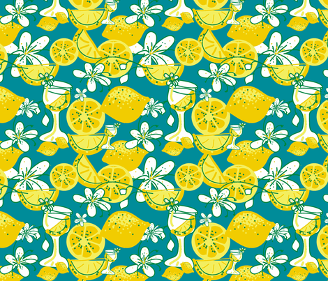 lemon-aid party ©2011 Jill Bull fabric by palmrowprints on Spoonflower - custom fabric