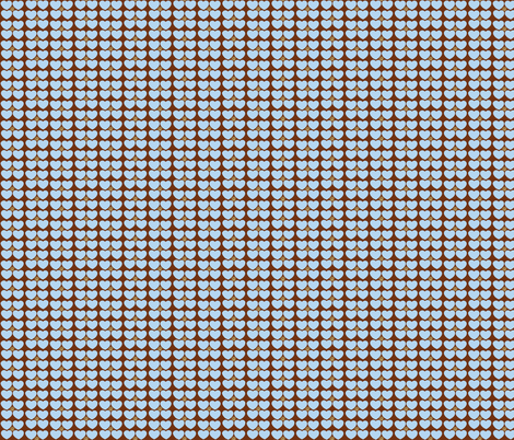 Hearts of Sunshine in Blue and Brown fabric by kbexquisites on Spoonflower - custom fabric