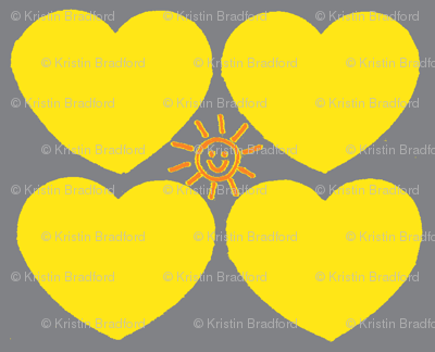 Hearts of Sunshine in Yellow