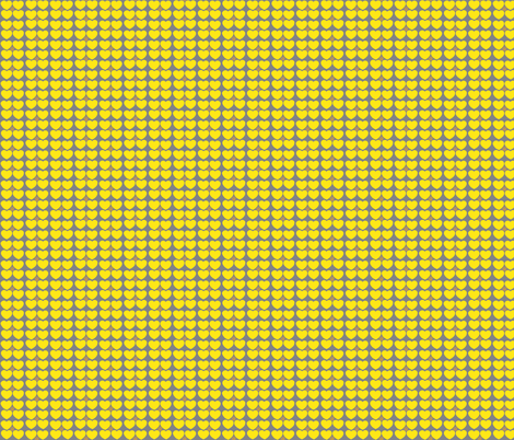 Hearts of Sunshine in Yellow fabric by kbexquisites on Spoonflower - custom fabric