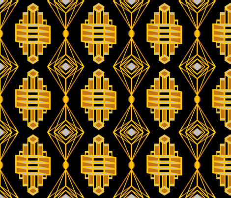 ArtDecoJewelRevisedNew fabric by grannynan on Spoonflower - custom fabric