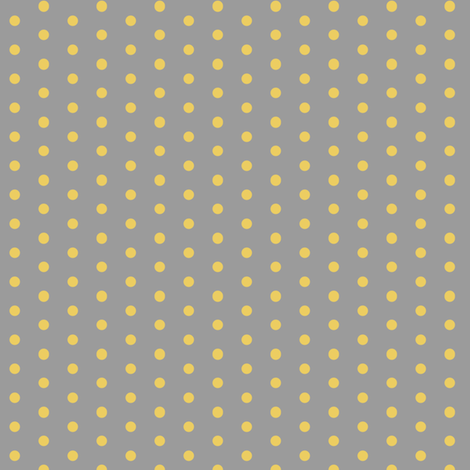 grey and yellow dot fabric by xoelle on Spoonflower - custom fabric