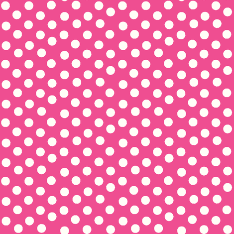Pretty Polka Dots in Hot Pink fabric by thepinkhome on Spoonflower - custom fabric