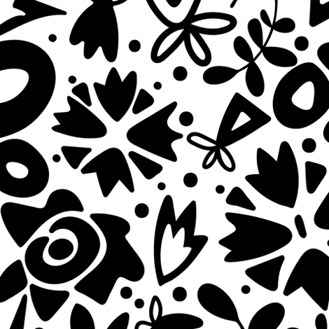 graphic garden fabric by scrummy on Spoonflower - custom fabric