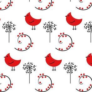 Red Bird Whimsical