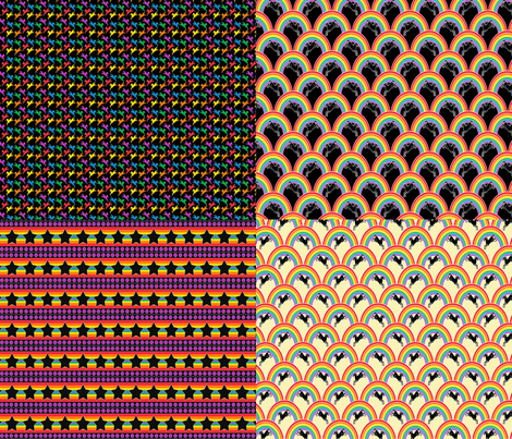 Prancing Pony FQ pic 'n' mix fabric by glanoramay on Spoonflower - custom fabric