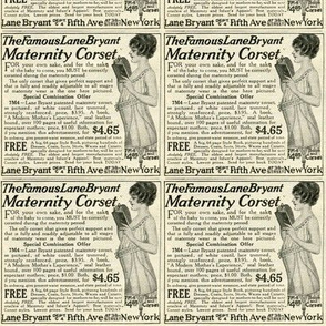 1918 advertisement: Corsets For Mommy